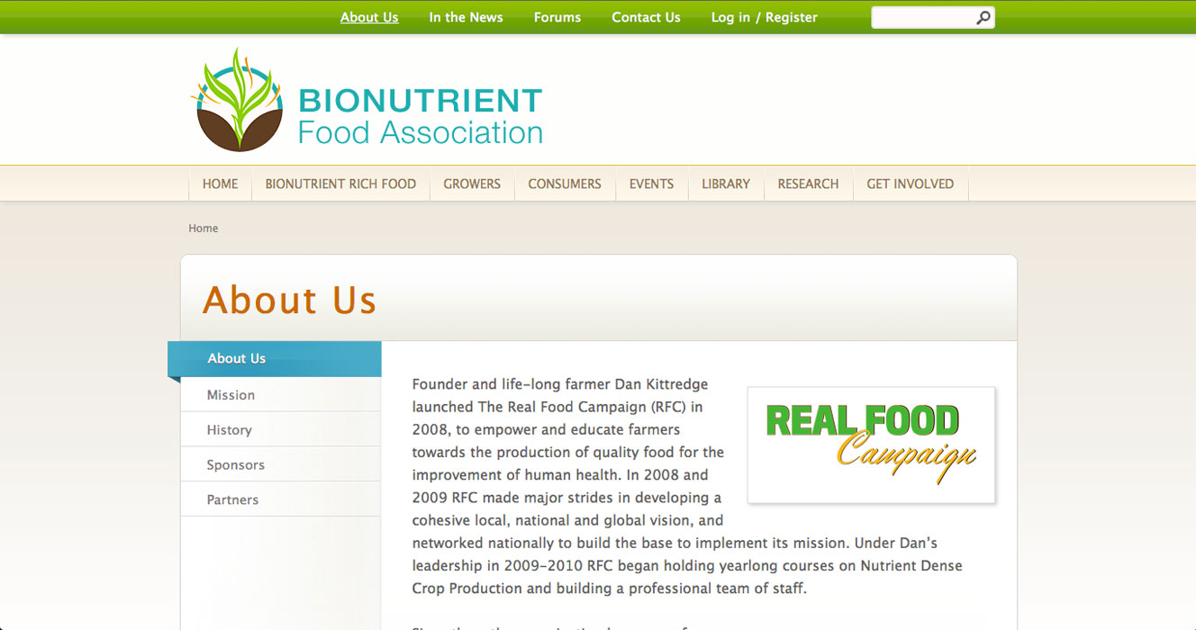 Bionutrient Food Association - About
