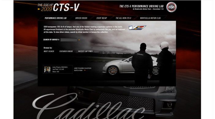 Cadillac CTS-V Home Page