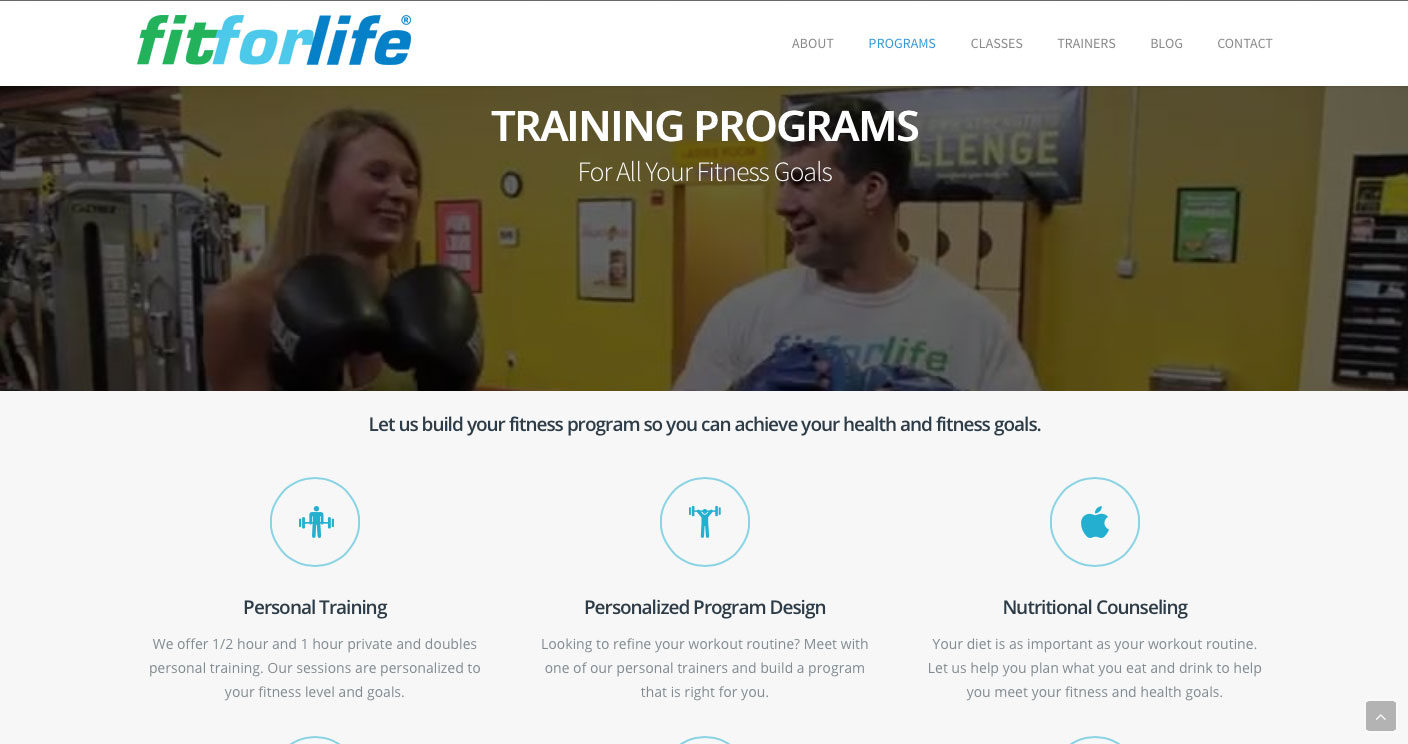 Fit For Life - Programs