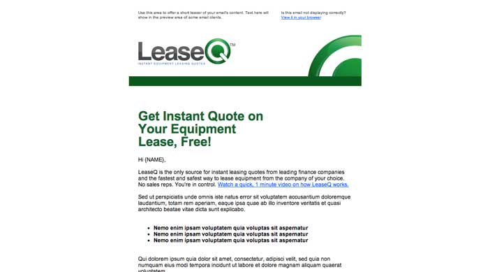 LeaseQ - Email Template
