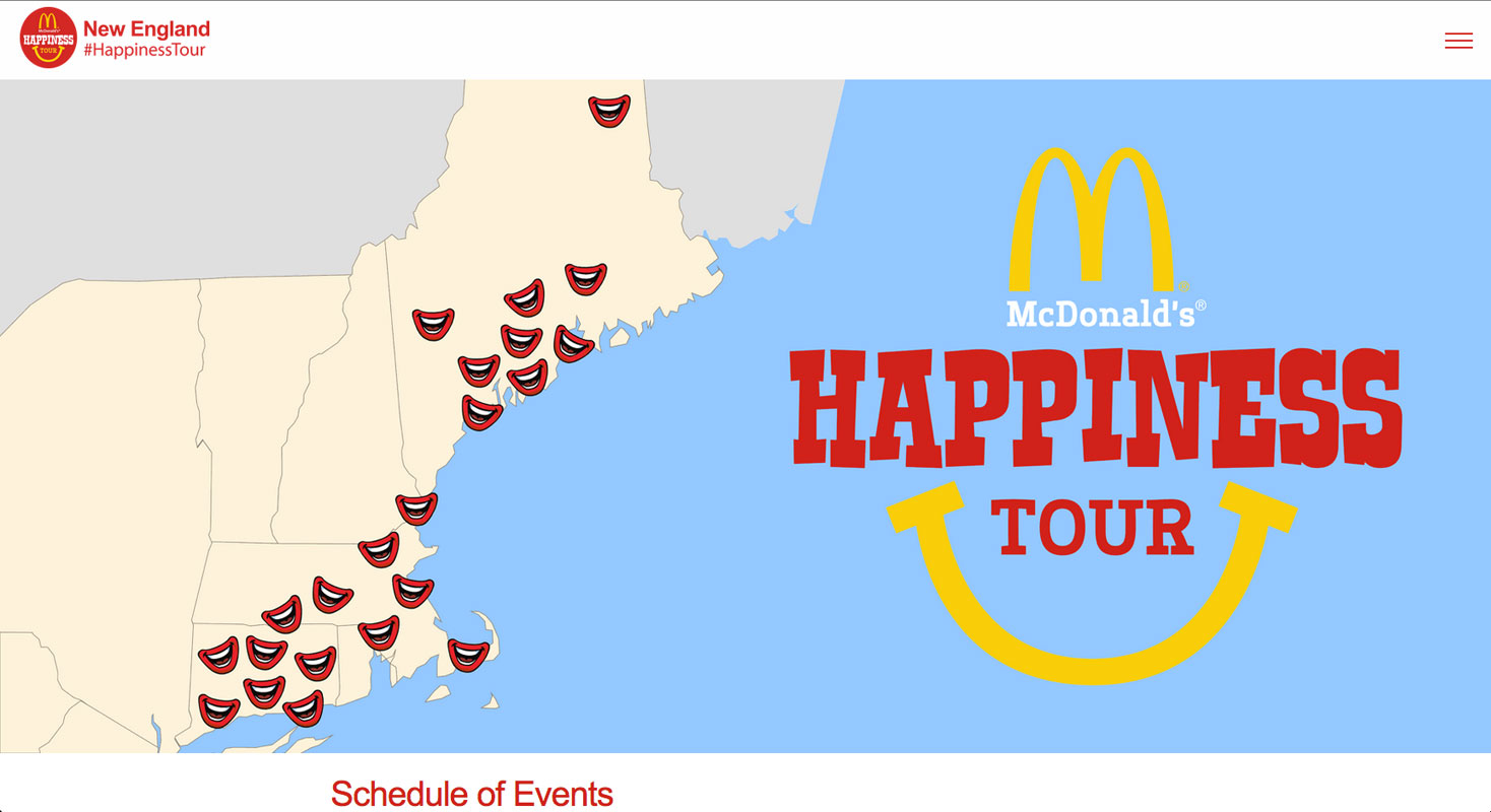 McDonalds's Happiness Tour - Home