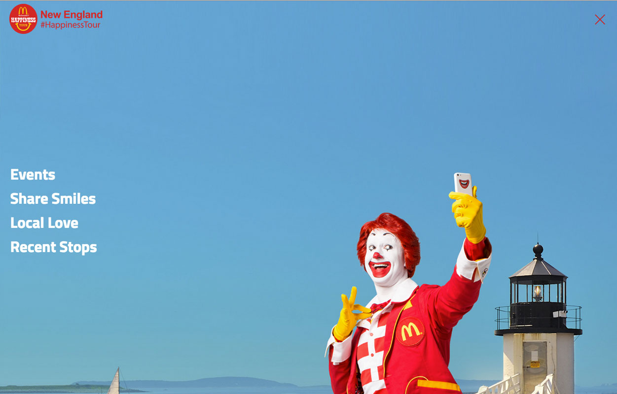 McDonalds's Happiness Tour - Main Navigation