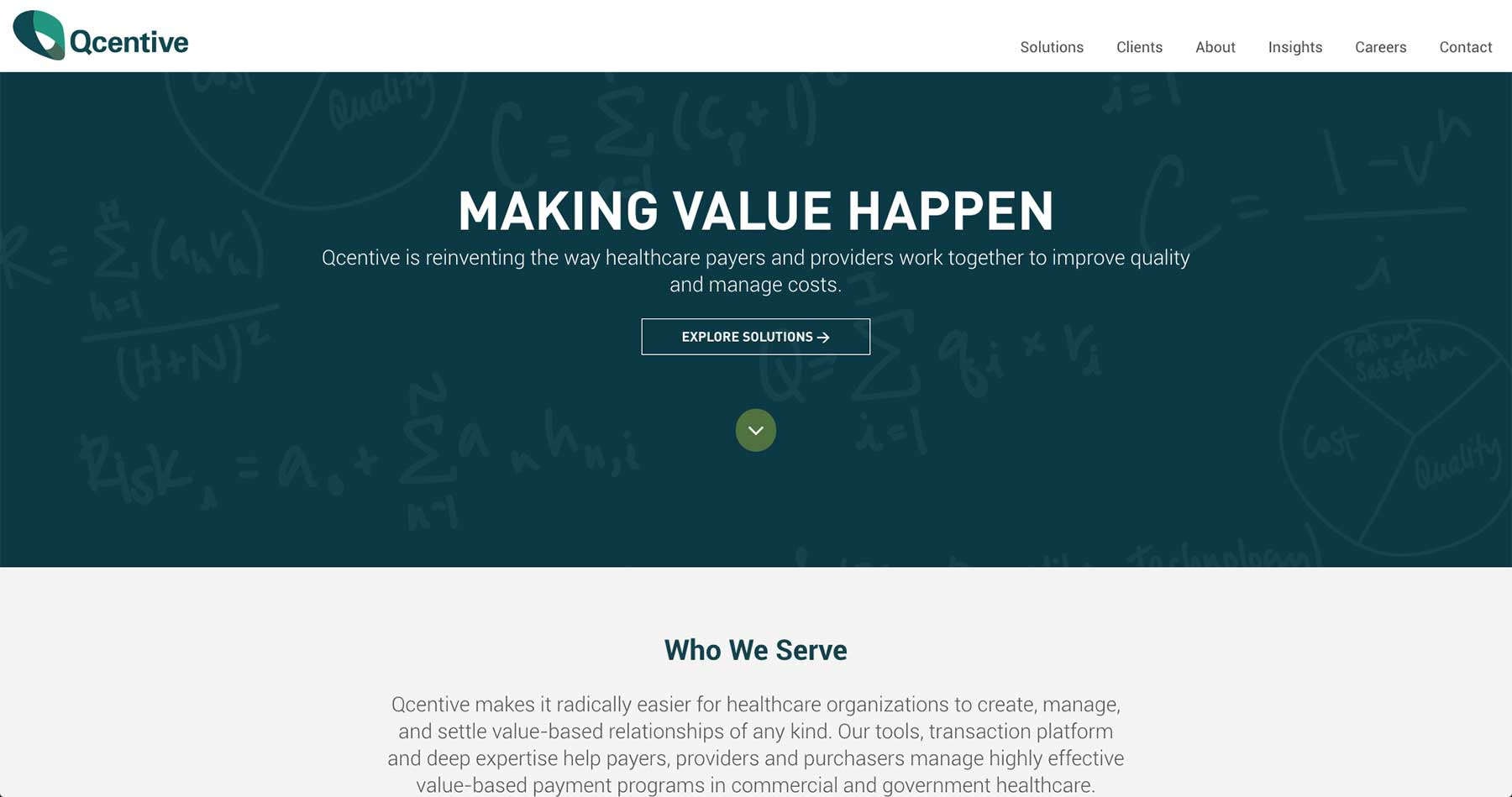 Qcentive Home Page