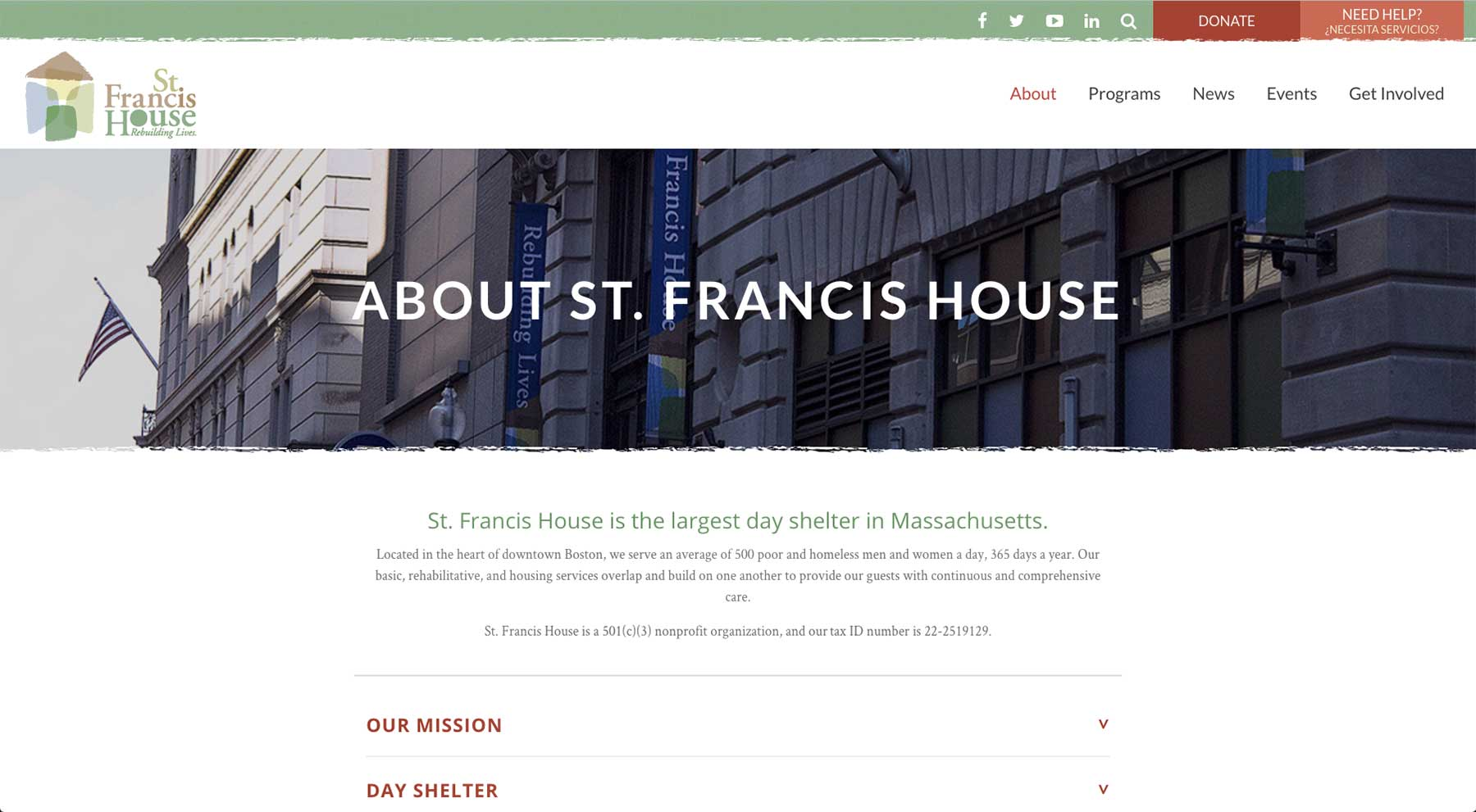 St. Francis House - About